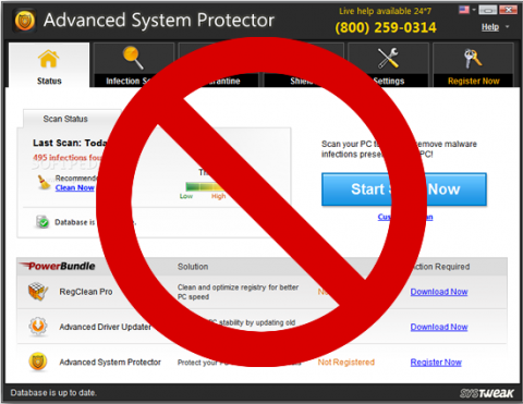 Advanced System Protectorを駆除する方法